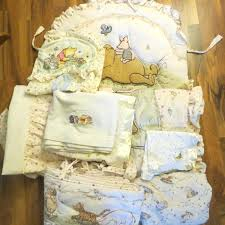 decoration pooh bear in the field crib bedding comforter nursery diaper sheets sets items sunny