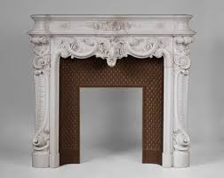 exceptional antique louis xv style fireplace in statuary carrara marble circle of jules cantini