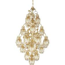 schonbek rondelle french gold 25 light topaz vintage crystal chandelier 34w x 58h x