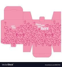 Photo Box Design Gift Box Design Template With Love Pattern