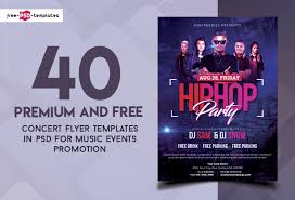 Concert Flyers Templates 40 Premium And Free Concert Flyer Psd Templates For Music Events