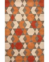 geometric rug pattern. Modern Geometric Rug Orange Trendy Pattern Contemporary Design Miss This Deal And A