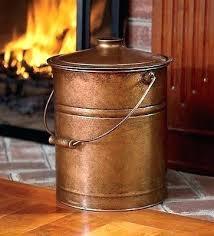 fireplace ash bucket copper fireplace bucket copper ash bucket hearth fire place wood stove steel coal