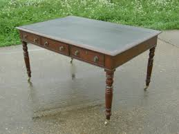 antique georgian writing desk large 5 foot regency gany writing desk with leather inset top