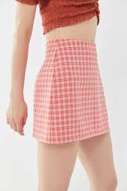 Designer Plaid Skirt Uo Gretchen Plaid Pelmet Mini Skirt
