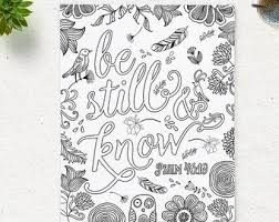 Coloring Page Printable Bible Verse Song Of Solomon 34 Etsy