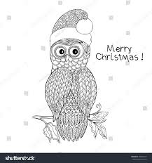 Small Picture Christmas Christmas Coloring Pages Of Owls In HatsChristmas