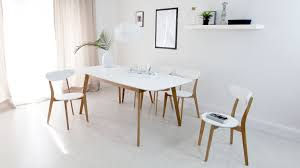 Kitchen:Aver Oak And White Extending Dining Table Modern White And Oak  Extending Dining Set