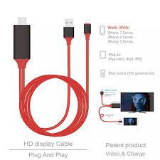 Cáp chuyển đổi kết nối Iphone, Ipad với Tivi qua cổng HDMI - Lightning to  HDTV