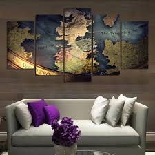 drop ship unmframed canvas 5 pieces world map traditonal modern wall painting home decor wallpaper on on world map wall art with photo frames with large map wall art print brass color world map canvas prints