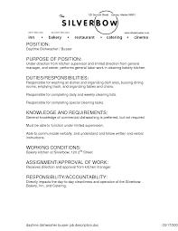 busser job description examples