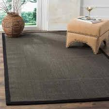 safavieh casual natural fiber charcoal and charcoal border sisal rug 4 x 6