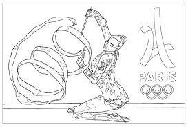 Jeux Olympiques Gymnastique Paris 2024 Coloriage Sur Les Jeux