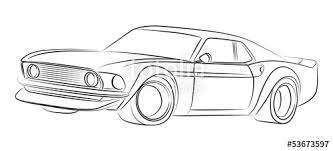 muscle cars drawings.  Cars Muscle Car Drawing In Cars Drawings E