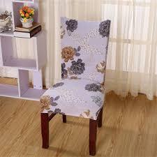1pcs elegant flower pattern elastic chair covers universal home wedding spandex chair slipcovers