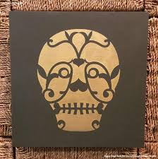 diy sugar skull wall art stencils for easy decor royal design studio