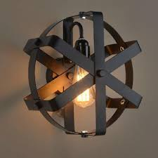 wrought iron sconces.  Iron Industrial 118 Inch Diameter Wrought Iron Wall Sconces To S