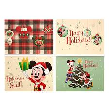 Retro Holidays Disney Christmas Cards Retro Mickey Happy Holidays