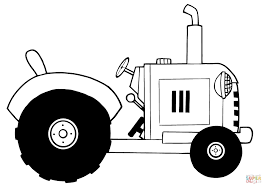 Small Picture Vintage Farm Tractor coloring page Free Printable Coloring Pages