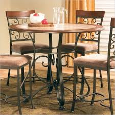 terrific round counter height dining table of thompson by steve silver from home and furniture