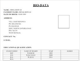 Biodate Format Biodata Format Word Magdalene Project Org