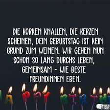 Die Korken Knallen Die Kerzen Scheinen Dein Geburtstag Ist Kein