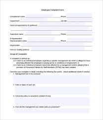 Complaint Template Employee Complaint Template Rome Fontanacountryinn Com