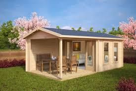 Gartenhaus mit Terrasse Nora E 9m² / 44mm / 3x6 | Gartenideen ...