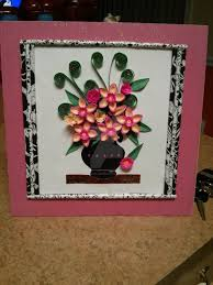 Paper Quilling Flower Frames Paper Quilling Flowers And Paper Frame By Esmeraldaarribas On