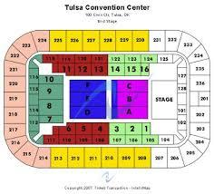 Cox Business Center Ballroom Seating Chart Cox Business Center Arena Tickets And Cox Business Center