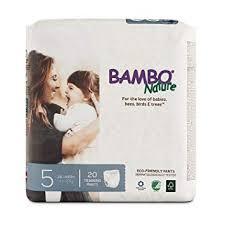 Bambo Nature Premium Training Pants Size 5 20 Count