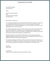 Interesting Components Of A Cover Letter Which Can Be Used