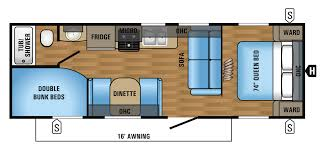 2017 jay flight 26bh floorplan