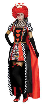 Queen Of Hearts Checkered Adult Womens Evil Wonderland