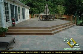 paver patio with deck. Brilliant Deck Paver Patio With Deck Wonderful On Home Regard To Decks 18 Throughout O