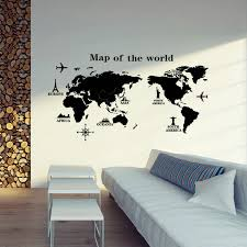 removable pvc vinyl art room world map decal mural home decor diy wall x spectacular large