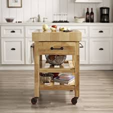 Island Kitchen Crosley Marston Island Kitchen Cart With Wood Top Reviews Wayfair
