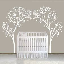 two tree nursery wall decal stickers auall226 6400 wall nursery wall stickers tree on nursery wall art tree decal with baby room decals unisex wall stickers nursery tree wall decal