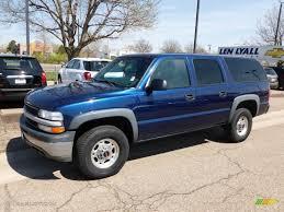 2001 Indigo Blue Metallic Chevrolet Suburban 2500 LS 4x4 #63319574 ...