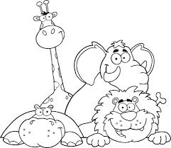 Hippo Giraf Olifant En Leeuw Kleurplaat Gratis Kleurplaten Printen
