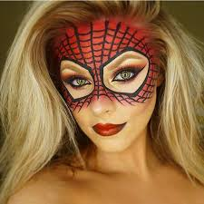 spiderman makeup mask for
