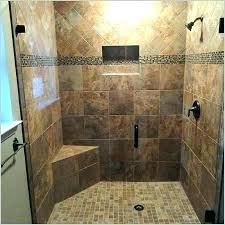 tile shower seat corner walk in showers installing design with for elderly s large walk in shower with seating