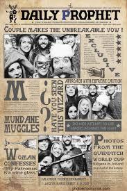 Harry Potter Newspaper Template Photo Emporium Alaska Harry Potter Wedding Photobooth