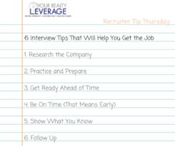 Interview Tip Interview Tips Prep Plan Yrl