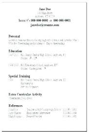 Simple Easy Resume Basic Resume Templates Resume Examples Simple Best Of Basic Resume
