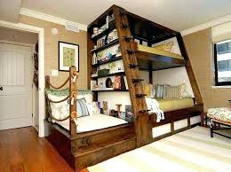 full loft bed desk bunk beds with design queen ikea