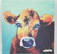 cow canvas wall art cow art canvas
