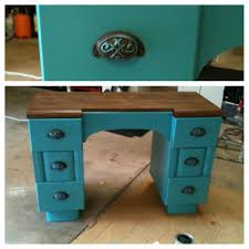 diy furniture refinishing projects. turquoise refinished desk painted stained refurbished two tone stain furniturefurniture refinishingfurniture projectspainted furniturediy diy furniture refinishing projects i