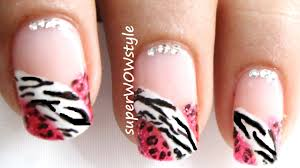 French Manicure - French Tip Nail Art designs - cute glitter ...
