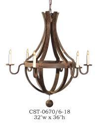 wood chandelier lighting. Wood Chandelier - CST-0670/6-18 Lighting C